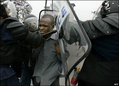 arrest of protester