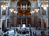Interior of Kelvingrove Art Gallery and Museum
