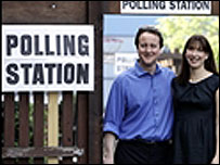 David Cameron MP and his wife