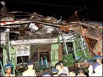 Blast site in Mumbai, India