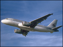 Airbus A319 in operation by Qatar Airways