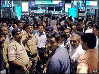 Commuters at Mumbai's at Churchgate railway station