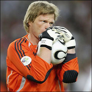Oliver Kahn made only one appearance in the World Cup - their final game against Portugal