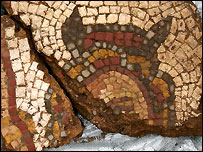 Fragments of the Daphne and Apollo mosaic