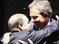 Tony Blair greets President of Algeria, Abdelaziz Bouteflika