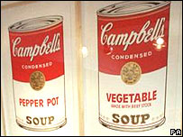 Andy Warhol's paintings of Campbell Soup cans