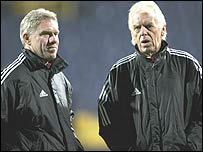 Wim Rijsbergen (left) and Leo Beenhakker