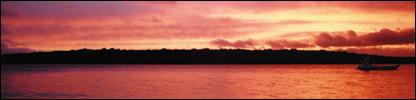 Vanuatu sunset (BBC)