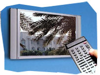 Television screen and remote control