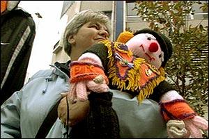 Woman with Orange teddy