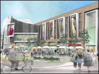 An artist's impression of the St Enoch Centre redevelopment