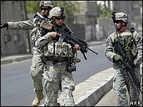 US troops in Baghdad on 12 July 2006
