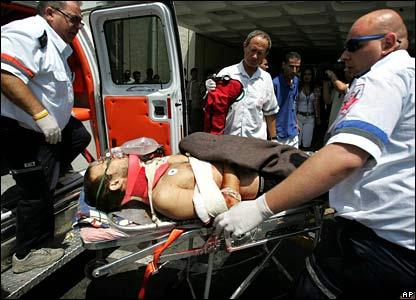 Wounded Israeli civilian