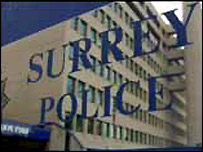 Surrey Police sign