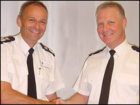 Chief Constable Joe Edwards and Pc Ian Potter