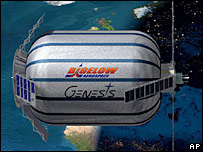Artist's impression of Genesis 1 in space