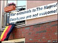 Anti-Bush banner