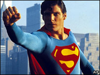 Christopher Reeve in 1981's Superman II