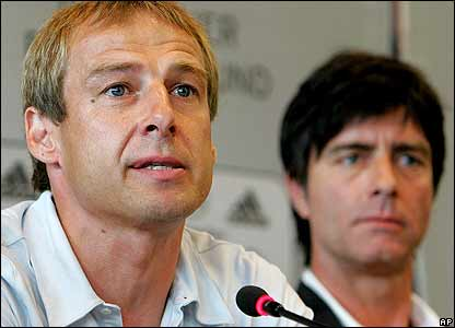 Jurgen Klinsmann announces his departure alongside replacement Joachim Loew