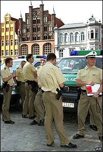 Policemen in the town of Straslund