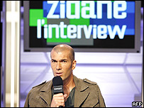 Entrevista a Zinedine Zidane.