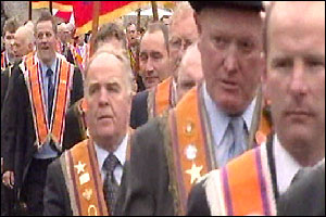 Orangemen marching in Armagh