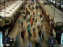 Estación de Churchgate, en Bombay.