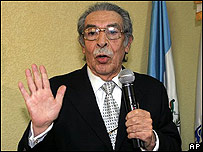 Ex presidente de facto guatemalteco Efraín Ríos Montt.