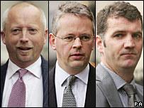 (L-R) Giles Darby, David Bermingham and Gary Mulgrew