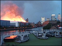 Fire in Bow, picture by Benet Allen
