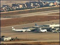 Grounded planes after air strike on Beirut airport