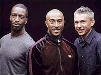 Michael Johnson, Colin Jackson and Jonathan Edwards