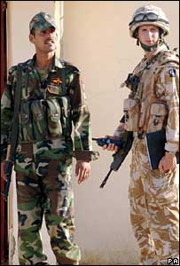 Iraq and British soldiers in Muthanna