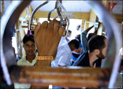 Commuters in Mumbai