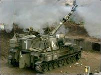 Israeli tank firing from border with Lebanon
