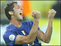 Marco Materazzi in joyful mood