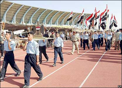 Iraqi security forces on parade