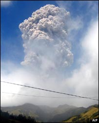 Galeras volcano in Colombia spews smoke and ash