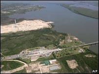 File photo from February of the site on the River Uruguay
