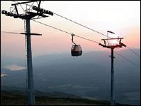 Gondola (picture from the Nevis Range website)