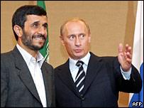 Russia's Vladimir Putin with Iranian President Mahmoud Ahmadinejad
