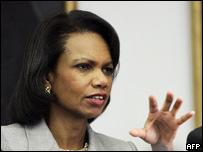 La secretaria de Estado de EE.UU., Condoleezza Rice.