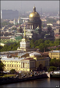 St Petersburg skyline (file picture, 2002)