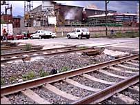 Vía férrea en Tultitlán