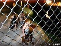 Inmigrantes en un fallido intento por llegar a EE.UU.
