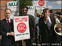 BBC Employees strike in May 2005