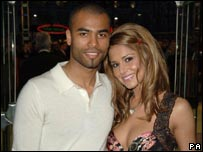 Ashley Cole with Cheryl Tweedy