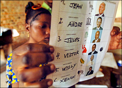 A electoral trainee in DR Congo