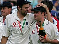 Steve Harmison and Andrew Strauss