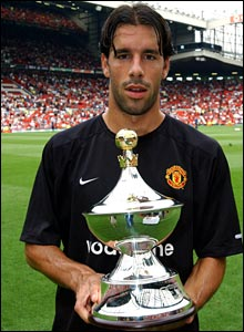 Ruud with the PFA Player of the Year trophy